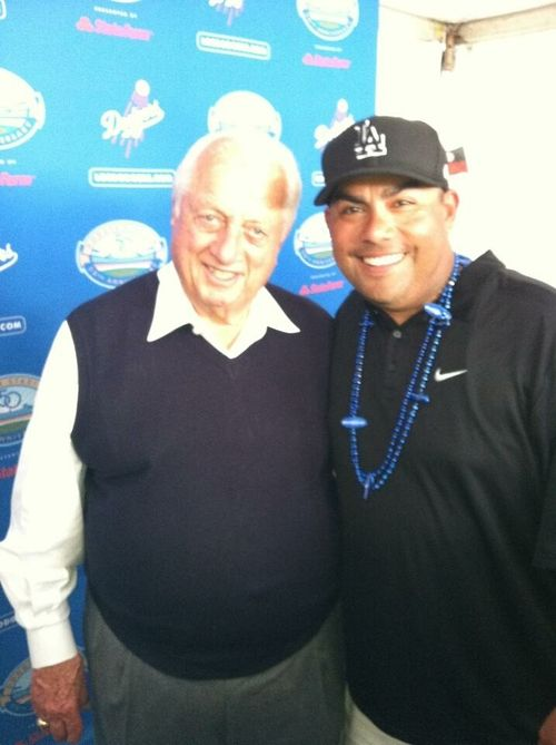 2012 Dodger Blog Tommy Lasorda and Randy