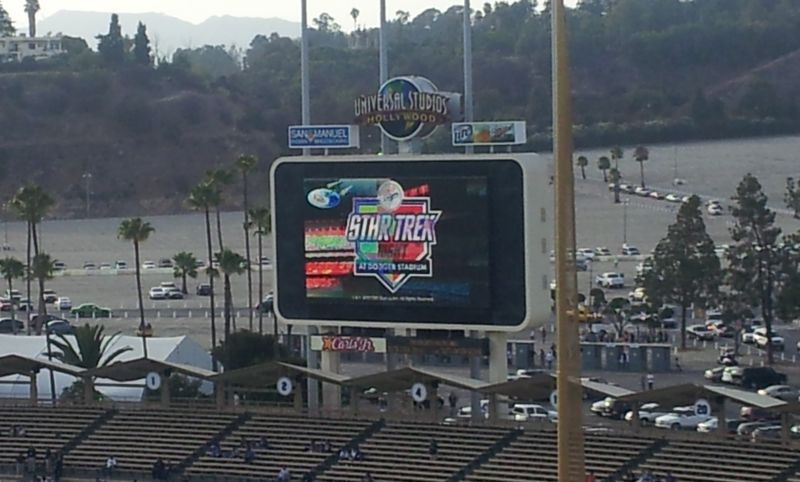2012 Dodger Blog Star Trek Jumbo Tron Wide shot