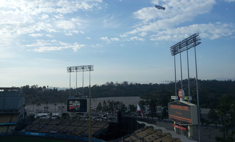 2012 Dodger Blog Star Trek Blimp wide shot
