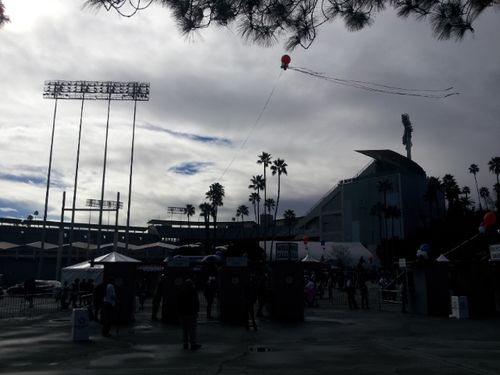 2013 Dodger Blog fan fest stadium view