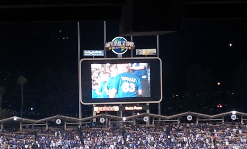 2012 Dodger Blog Vin Scully Day pic 6 jumbo tron