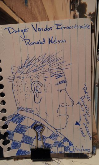2012 Dodger Blog Ronald Nelson Drawing