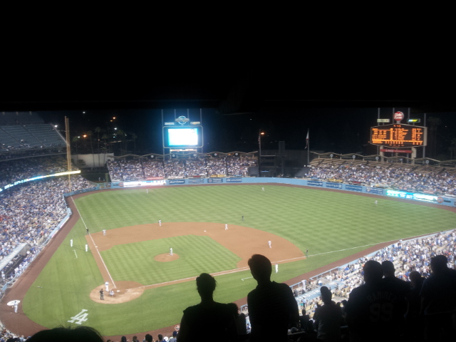 2012 Dodger Blog Final homestand night shot of field