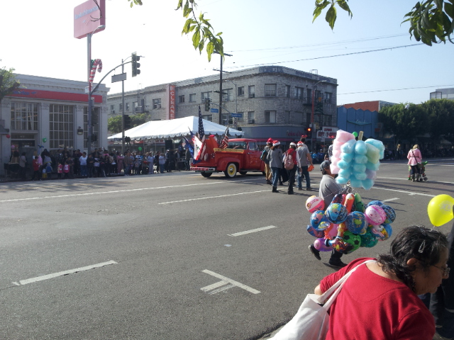Parade end with balloons