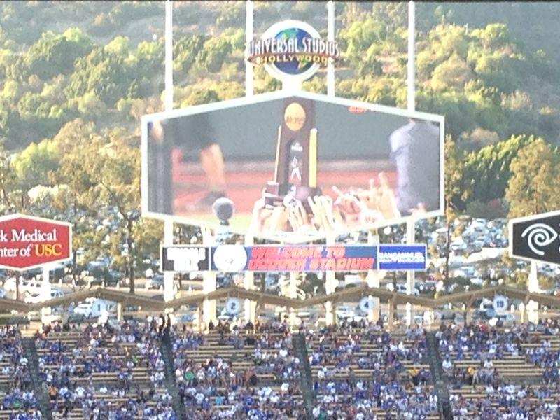 2013 Dodger Blog vs Phillies game 1 UcLA trophy pic 12