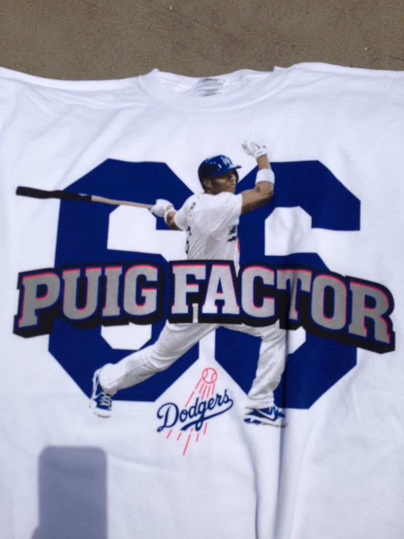 2013 Dodger Blog vs Colorado game 4 Puig T shirt pic 2