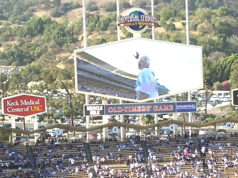 2013 Dodger Blog Old Timers Game pic 23 LA intro Jerry Ruess pic 3