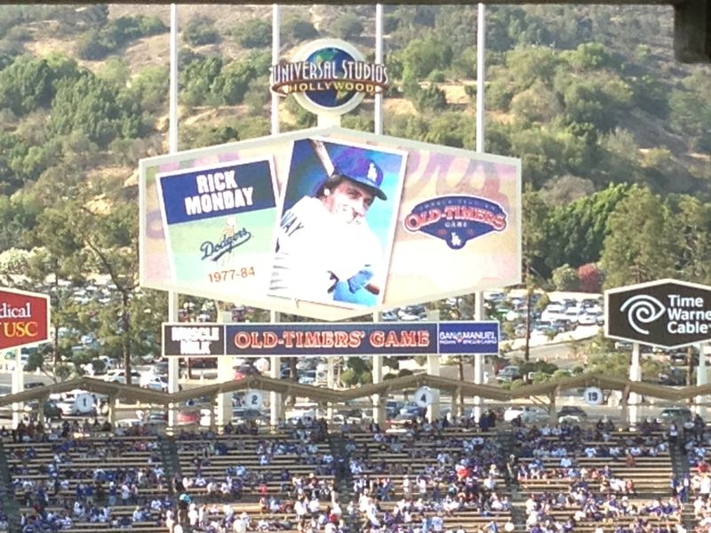 2013 Dodger Blog Old Timers Game pic 37 Rick Monday pic 1