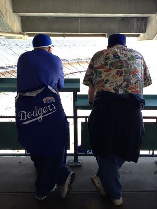 2013 Dodger Blog vs St. Louis 5 13 ll father and son