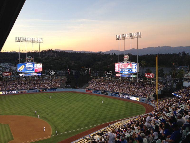 2013 Dodger Blog vs Philly game 2 3rd inning break room perch