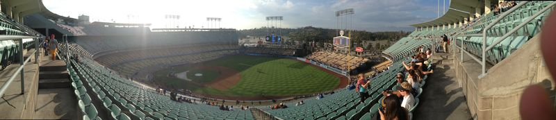 2013 Dodger Blog vs REDs game Kershaw pic 5 panorama