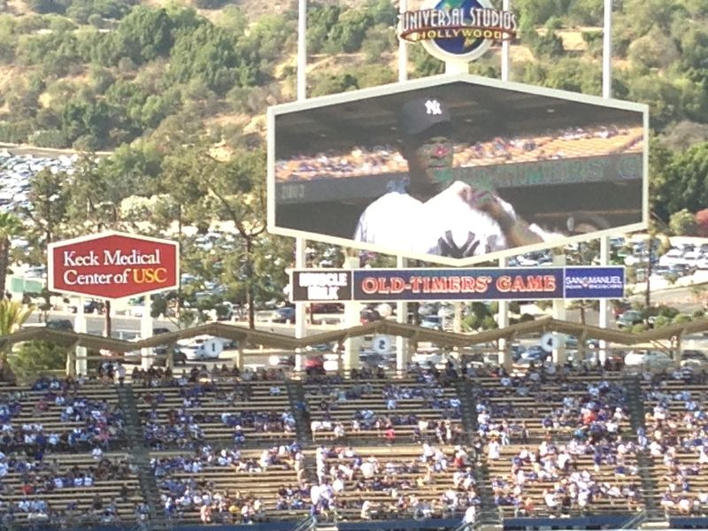 2013 Dodger Blog Old Timers Game pic 16 intro Henderson pic 2