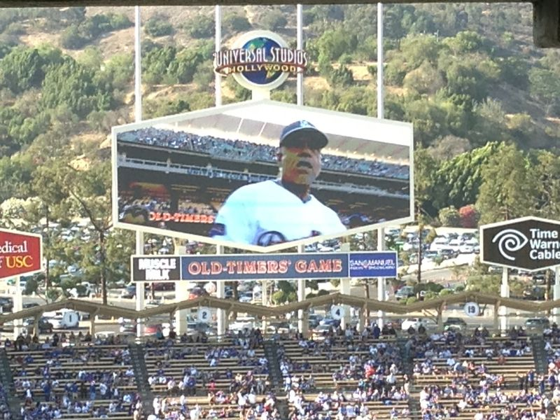 2013 Dodger Blog Old Timers Game pic 41 Davey Lopes pic 2