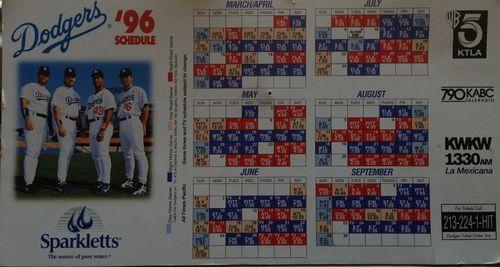 2013 Dodger Blog 96 Calender