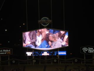 2013 Dodger Blog vs Washington 5 15 Kiss Cam 2