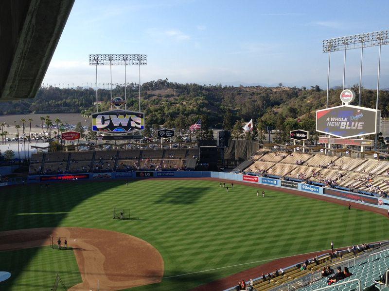 2013 Dodger Blogs game 2 vs Giants break room perch