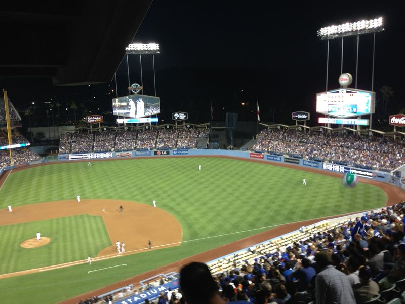 Dodger vs Giants ball 1