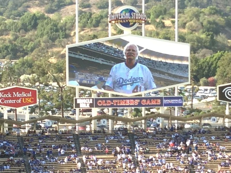 2013 Dodger Blog Old Timers Game pic 22 LA intro Jerry Ruess 2
