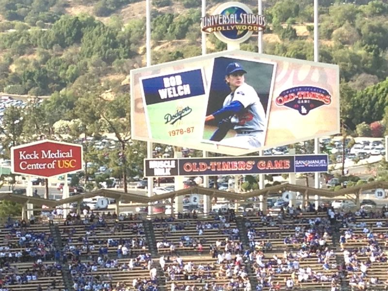 2013 Dodger Blog Old Timers Game pic 24 LA intro Bob Welch