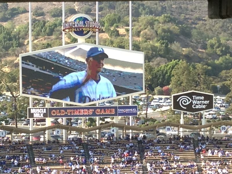 2013 Dodger Blog Old Timers Game pic 25 LA intro Bob Welch pic 2