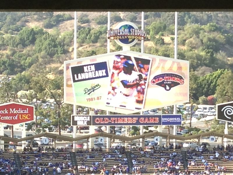 2013 Dodger Blog Old Timers Game pic 30 LA intro Ken Landreaux