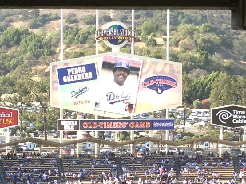 2013 Dodger Blog Old Timers Game pic 35 Pedro Guerrero pic 1