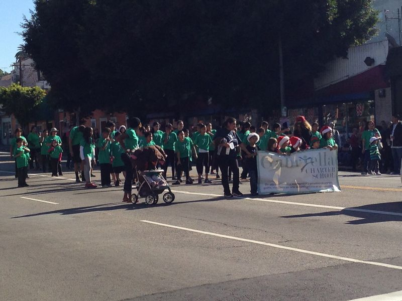 Echo Park Holiday Parade Green kids pic 2