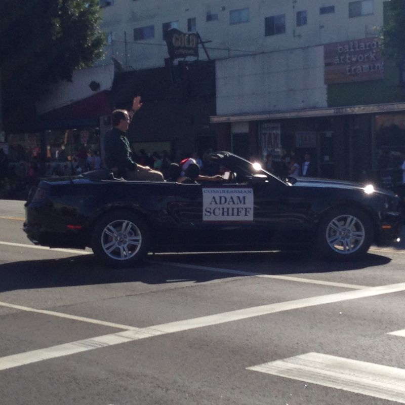Echo Park Holiday Parade pic 24 Adam Schiff
