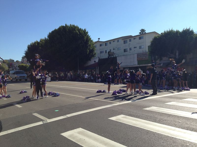 Echo Park Holiday Parade Purple Cheer team pic 3