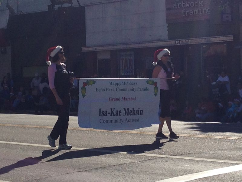 Echo Park Holiday Parade pic 7 Grand Marshall