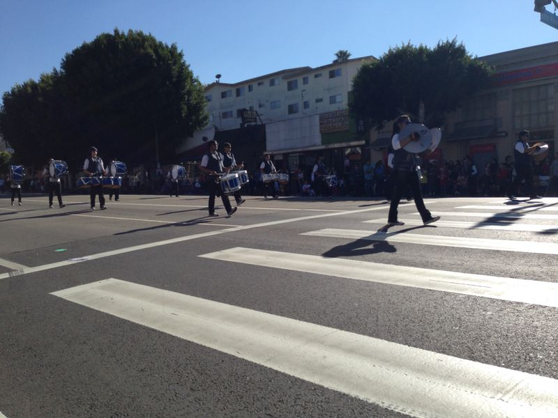 Echo Park Holiday Parade Marshall Cheer pic 2