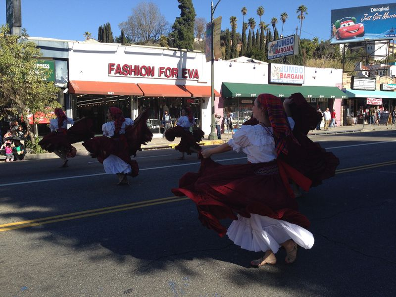 Echo Park Holiday Parade ASOL and dancers pic 4