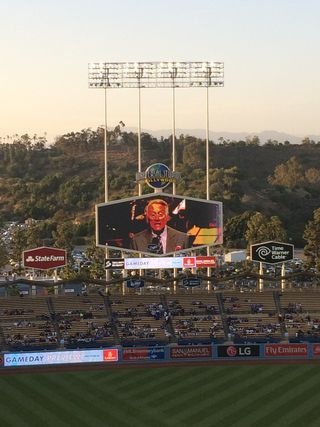 2016 Dodger Blog USC Night  scully 3