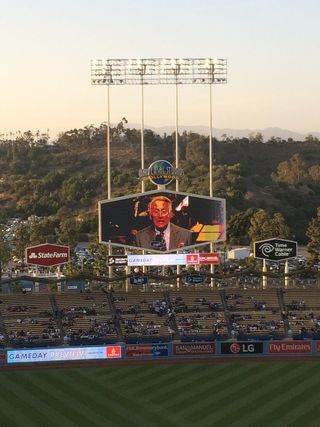 2016 Dodger Blog USC Night  scully 2