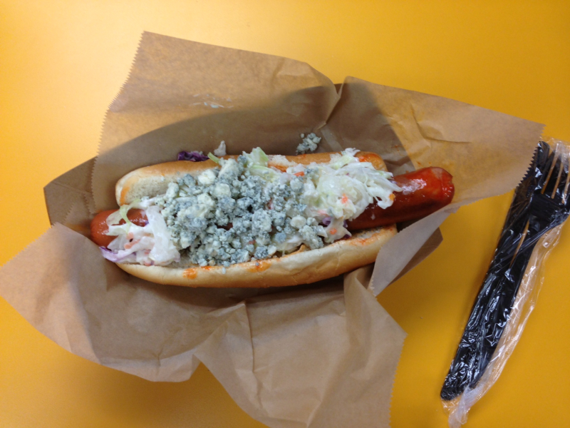 Blue cheese dog