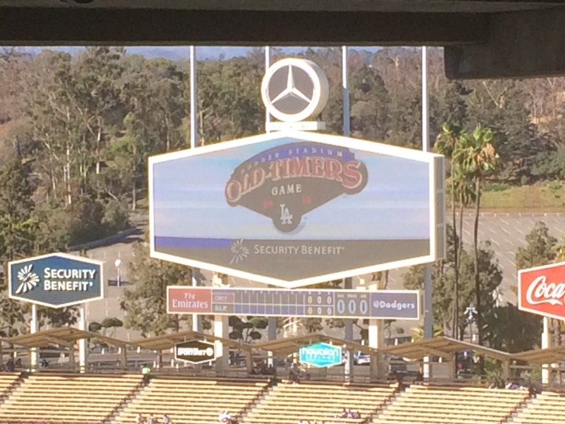 Old Timers game 2016 Jumbo tron