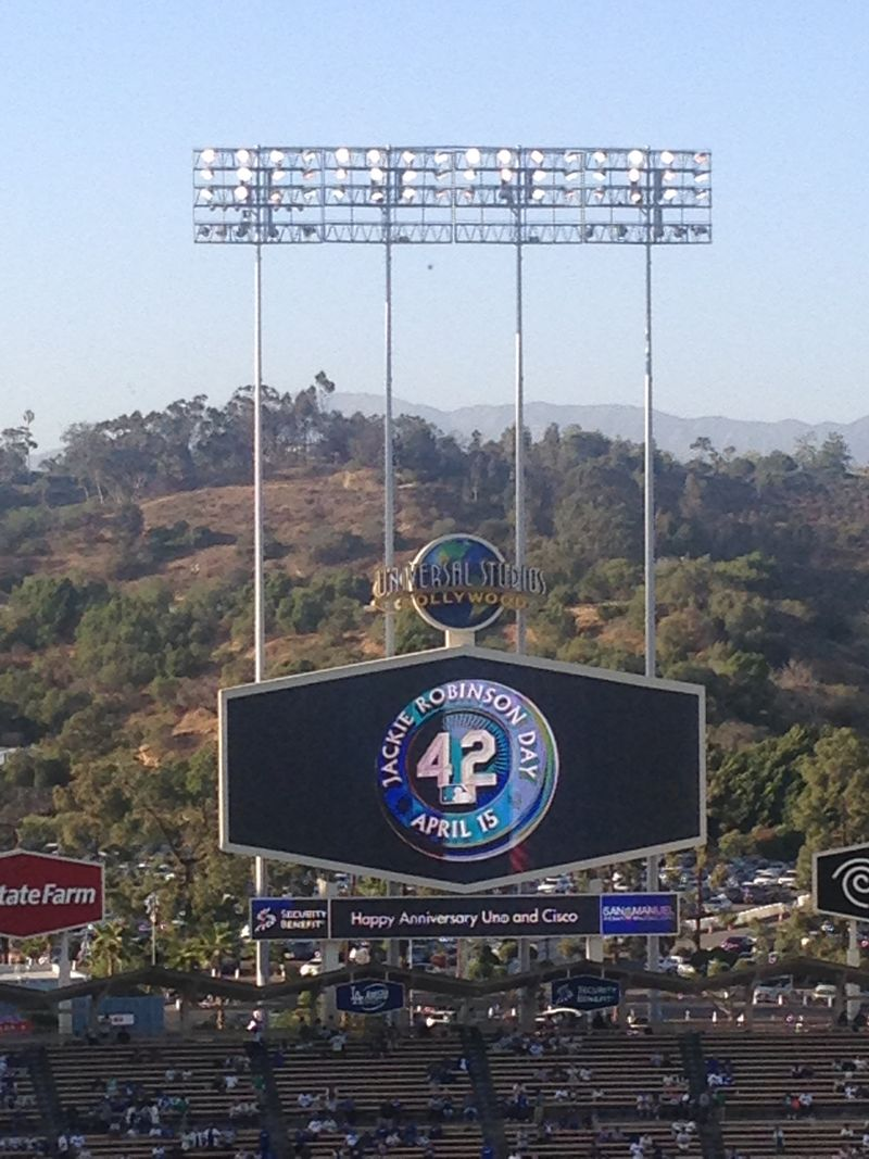 2015 Dodger Stadium Blog Robinson vs Mariners pic 2