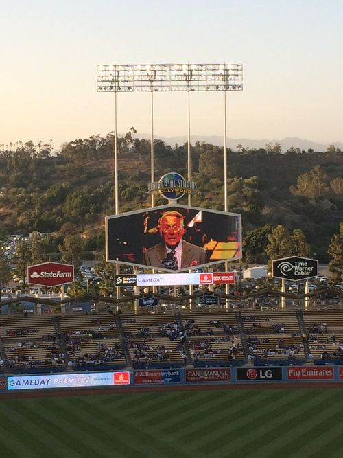 2016 Dodger Blog USC Night  scully 1