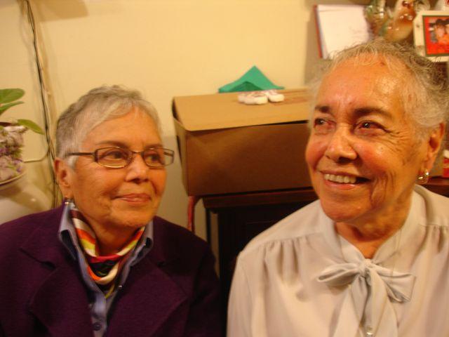 Grandma (left) and Aunt,